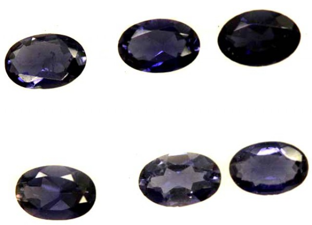 IOLITE FACETED STONE (6 PCS) 2.05  CTS   PG-1294