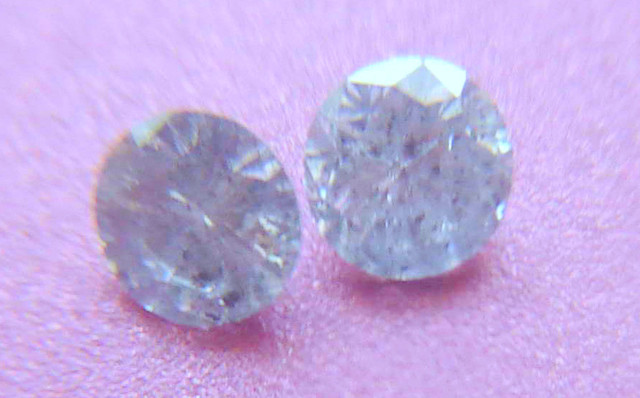 NATURAL WHITE DIAMOND-4MMSIZE-2PCS-O.25CTWSIZE-NR
