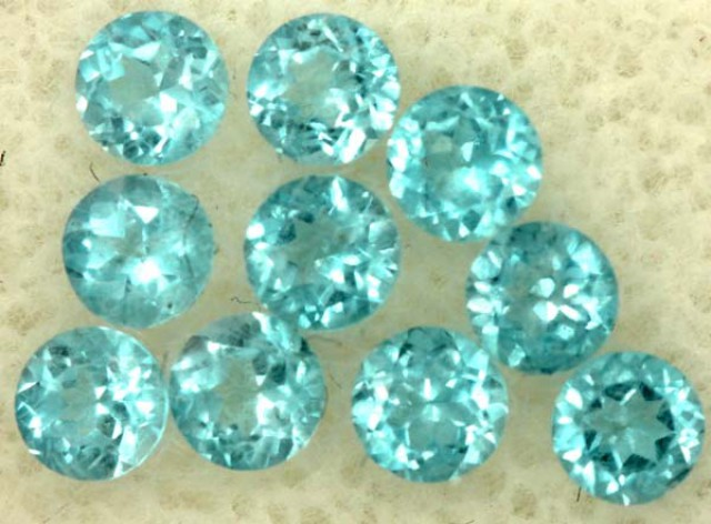 BLUE TOPAZ NATURAL FACETED (10 PCS) 1.65 CTS   PG-1441