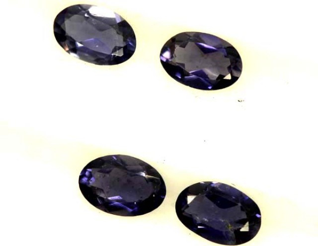IOLITE FACETED STONE (4 PCS) 1.45 CTS  PG-1310