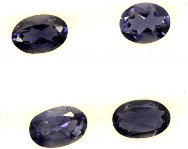 IOLITE FACETED STONE (4 PCS) 1.40 CTS  PG-1278