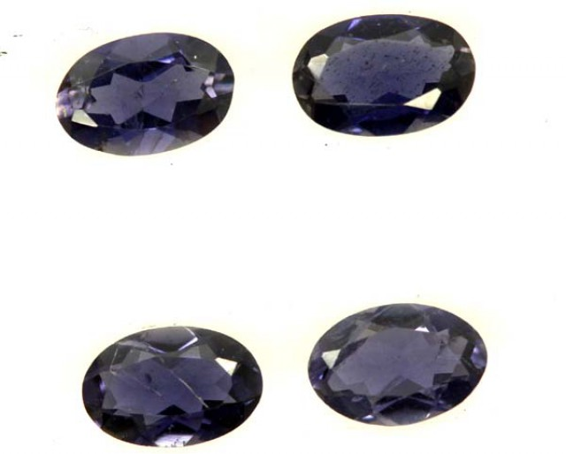 IOLITE FACETED STONE (4 PCS) 1.40 CTS  PG-1276
