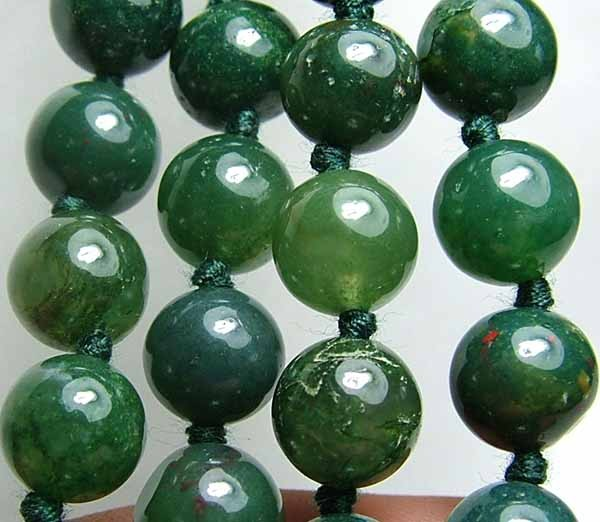 100% Natural African Moss Agate Beads B612