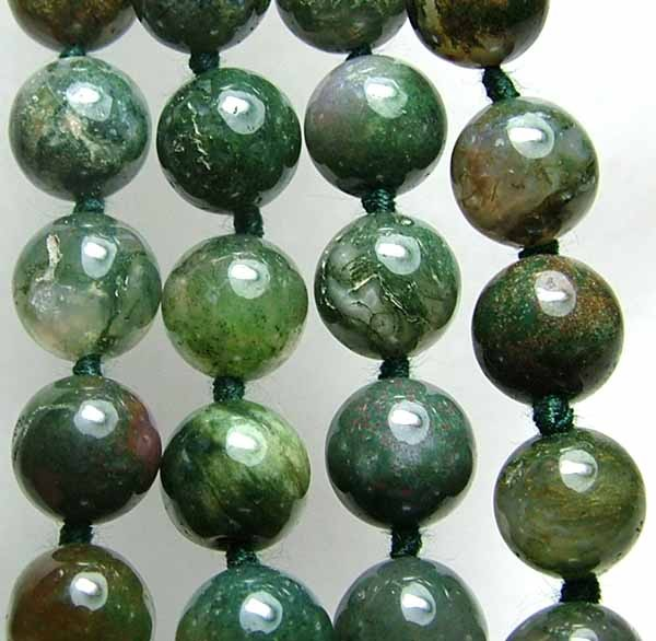 100% Natural African Moss Agate Beads B613