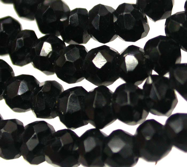 NATURAL BLACK SPINEL BEAD STRAND 35.75 CTS [MX7800]