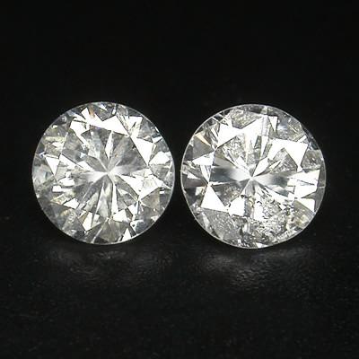 NAT-WHITE DIAMOND,020CTWSIZE-2PCS,3.8MM SIZE,NR