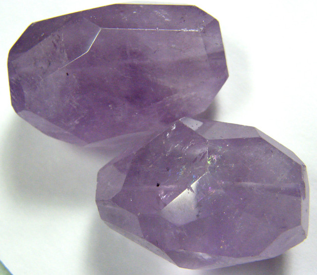 272.85 CTS AMETHYST LARGE FACETD BEADS DRILLED   TBG-172