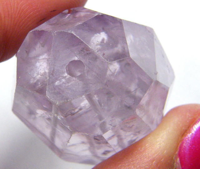 AMETHYST LARGE FACETED BEAD 133.10 CTS TBG-180