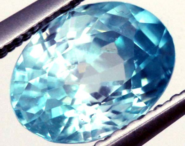 BLUE ZIRCON FACETED STONE 1.15 CTS  PG-1046