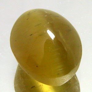 4.35 CARAT WEIGHT OVAL CUT CAT'S EYE APATITE