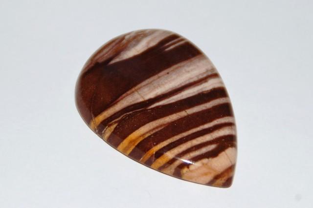 Superb cocoa Jasper drop shape cabochon 54.4ct