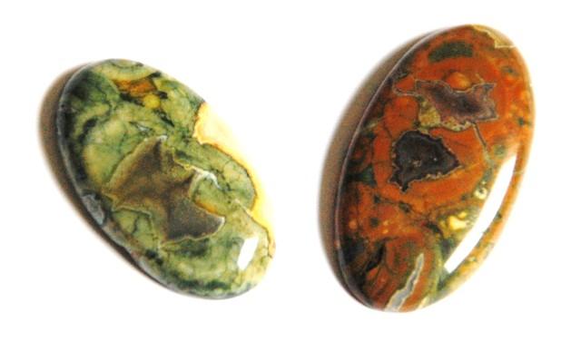 Two Rhyolite Cabochon - Gorgeous 50ct