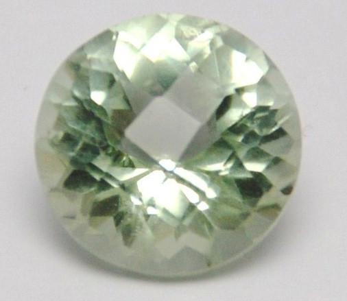 round Prasiolite Checker cut prasiolite 11.46ct