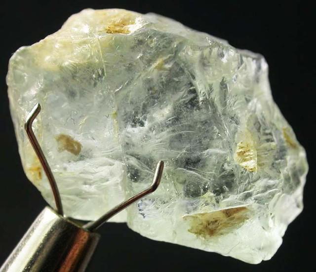 AQUARAMINE ROUGH  GREEN TINGE 16.90 CTS [F2943]