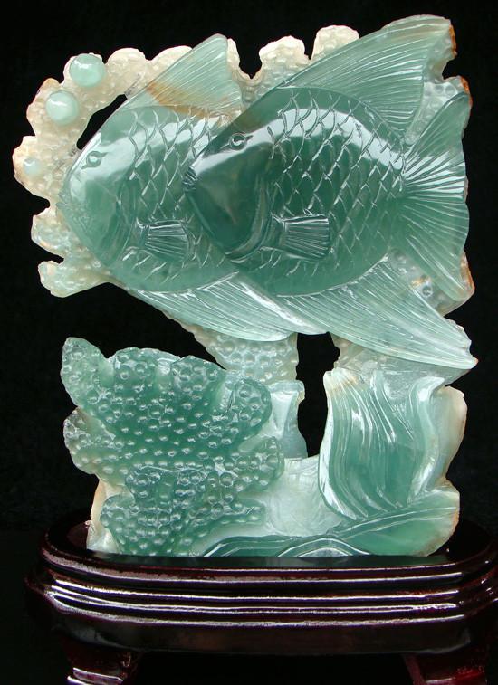 China Fish - Superb, Elegant Flourite Carving