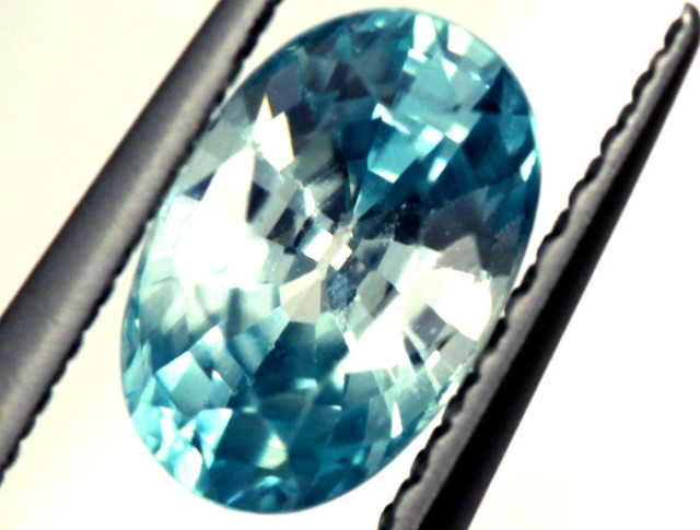 BLUE ZIRCON FACETED STONE 1.25 CTS  PG-1243
