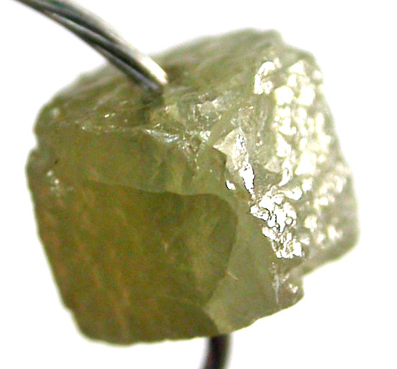 NATURAL CUBE DIAMOND-DRILLED. 0.45 CTS [DC340]