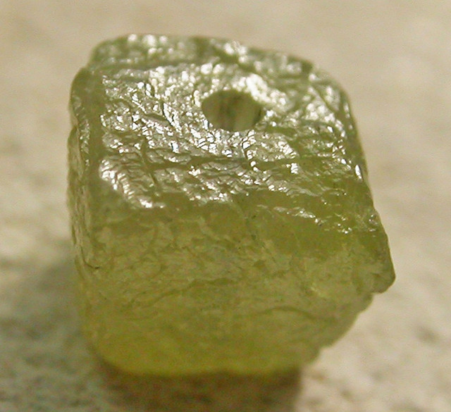 NATURAL CUBE DIAMOND-DRILLED. 0.53 CTS [DC380]