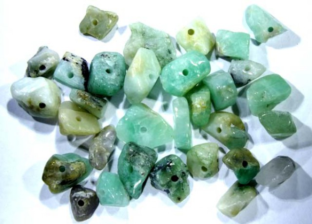 EMERALD BEAD UNTREATED DRILLED 31 PCS 41.8 CTS   NP-1555