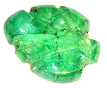 CARVED EMERALD 3.12 CTS  90221