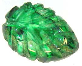 CARVED EMERALD  1.92 CTS  90227