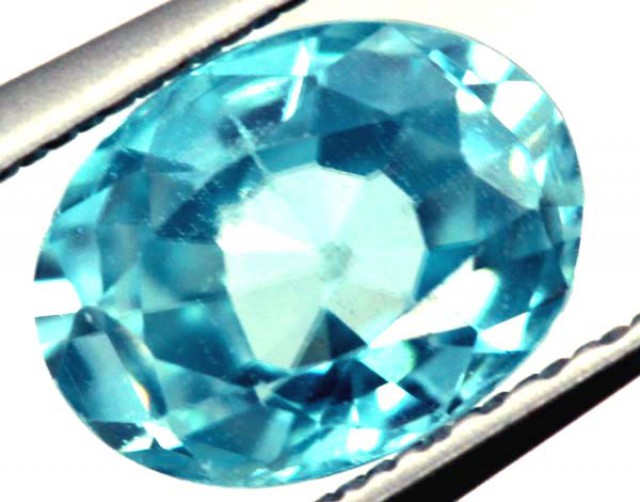 BLUE ZIRCON FACETED STONE 1.35 CTS  PG-1087