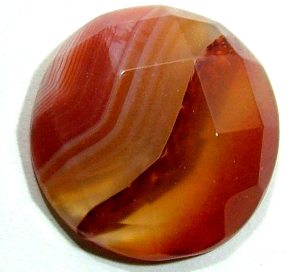 NATURAL AGATE FACETED STONE 17.55 CTS PG-727