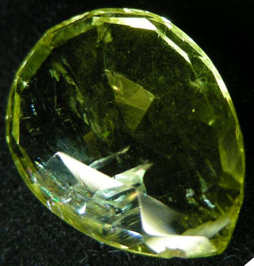 FACETED LEMON TOPAZ  BEAD 18.20  CTS 90328