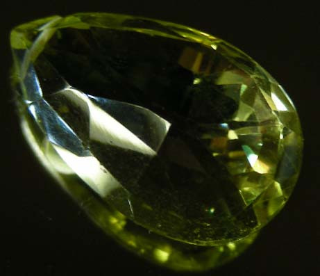 FACETED LEMON TOPAZ   BEAD 19.13 CTS 90335