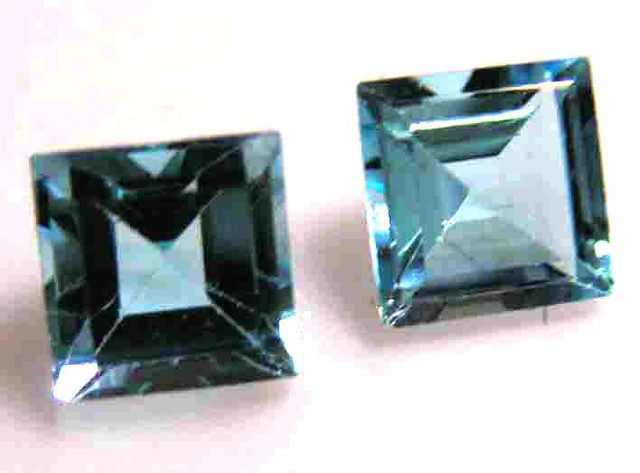 FACETED BLUE TOPAZ  PAIR 8.60 CTS 90099