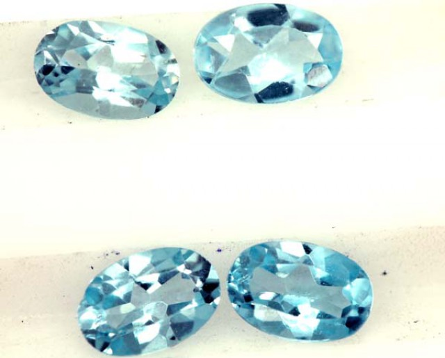 BLUE TOPAZ NATURAL FACETED ( 4 PCS) 2.05CTS  PG-1423