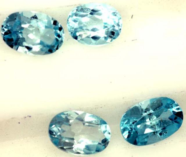 BLUE TOPAZ NATURAL FACETED ( 4 PCS)2.05 CTS  PG-1425