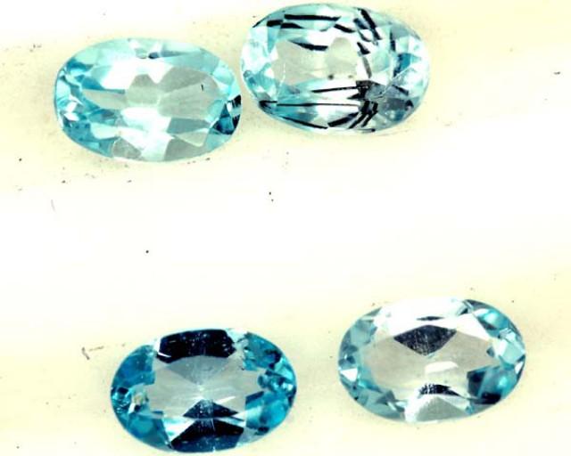 BLUE TOPAZ NATURAL FACETED ( 4 PCS) 2.10CTS  PG-1352