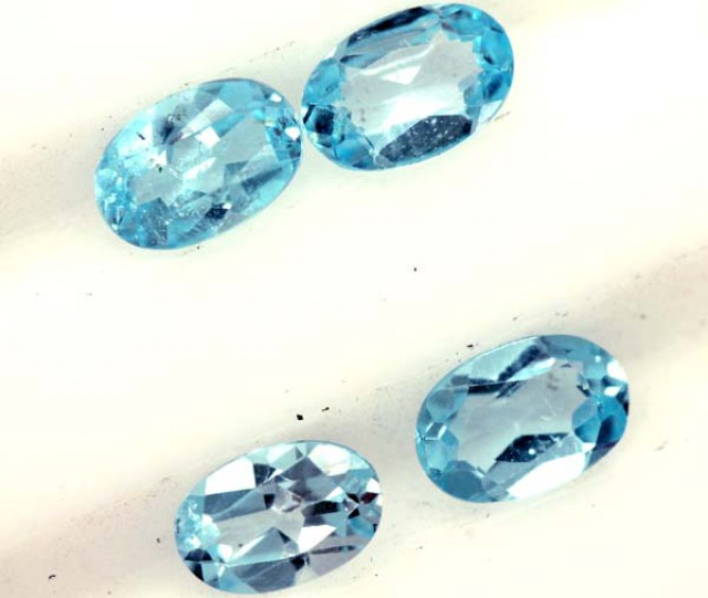 BLUE TOPAZ NATURAL FACETED ( 4 PCS)1.95 CTS PG-1368