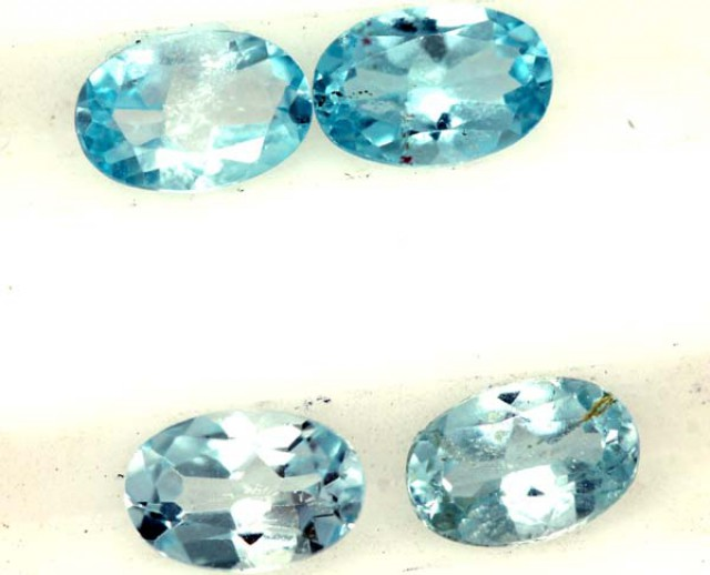 BLUE TOPAZ NATURAL FACETED ( 4 PCS) 2 CTS  PG-1421
