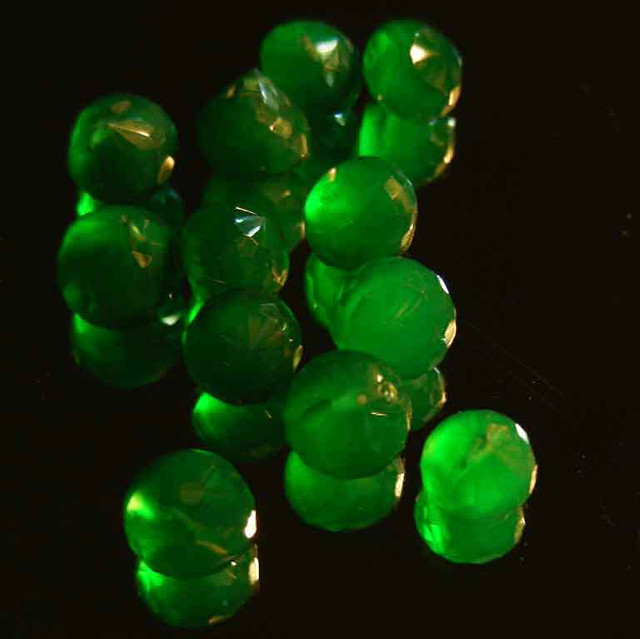 NATURAL EMERALD FACETED BEADS PARCEL 30.29 CTS 90027