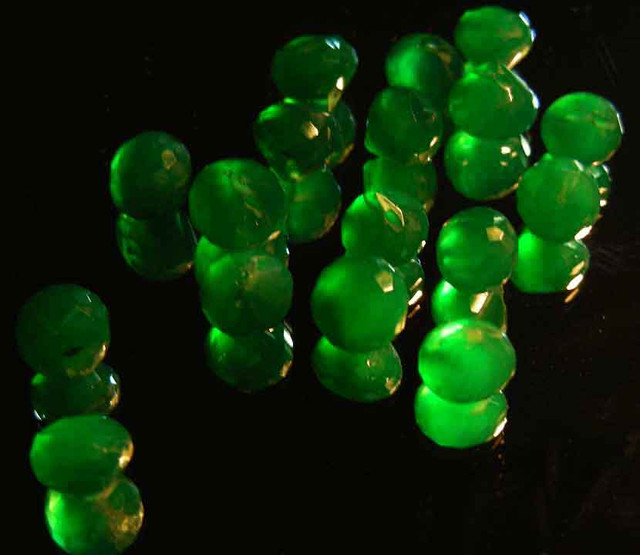 NATURAL EMERALD FACETED BEADS PARCEL 40.17 CTS 90028