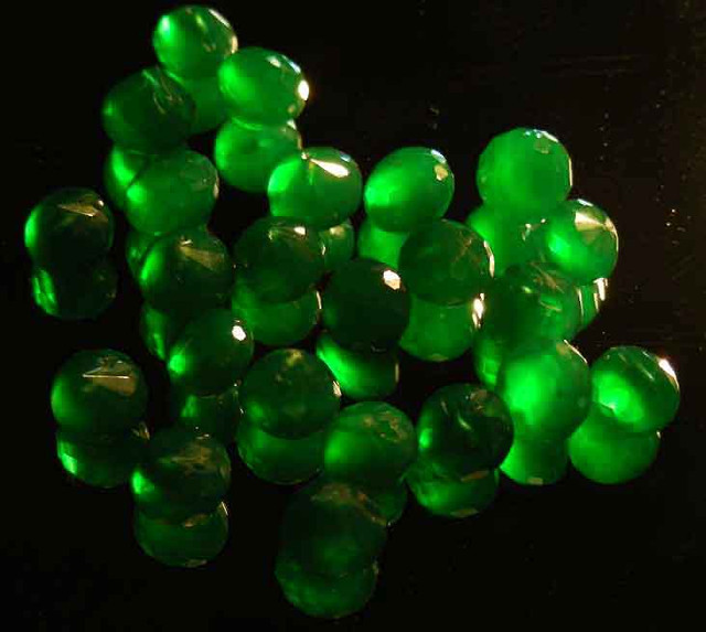 NATURAL EMERALD FACETED BEADS PARCEL 52.39 CTS 90029