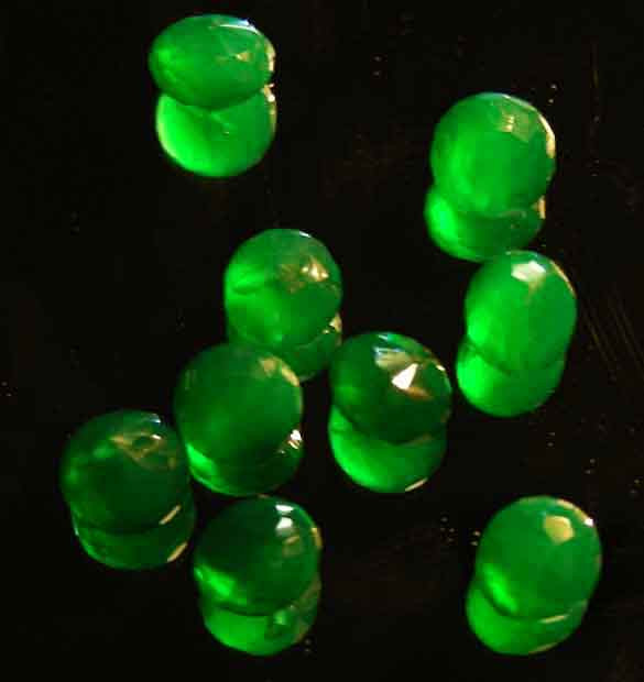 NATURAL EMERALD FACETED BEADS PARCEL 21.55 CTS 90031