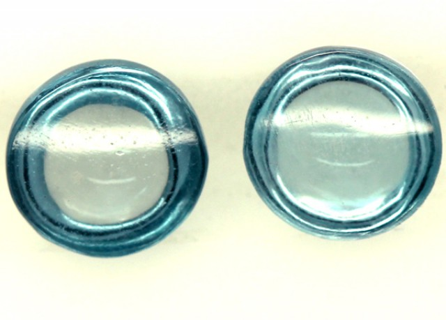 BLUE TOPAZ NATURAL CABS (2 PCS) 1.95 CTS  PG-1199