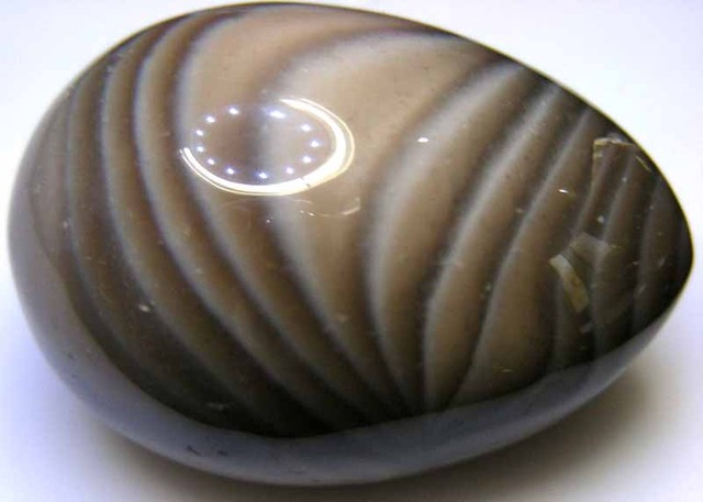 BANDED AGATE EGG 310.00  CTS  90459