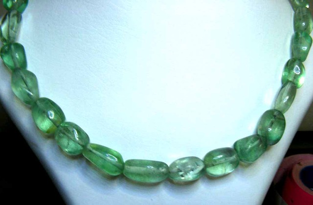 FLUORITE BEADS STRING 367.00 CTS  90656