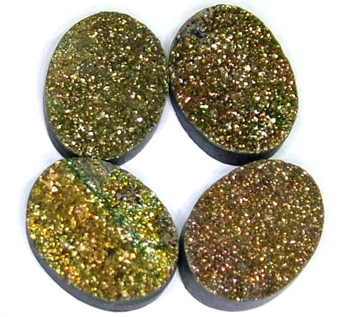 NATURAL DRUSY STONE (4PC SET) 32 CTS PG-724