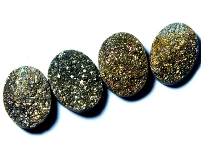 NATURAL DRUSY STONE (4PC SET) 33 CTS PG-900