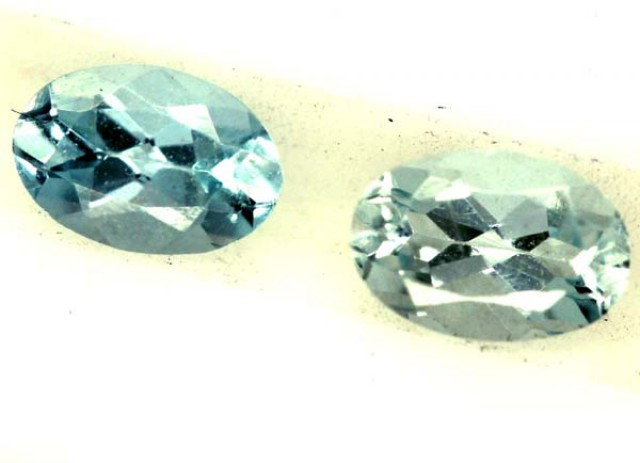 BLUE TOPAZ NATURAL FACETED (2 PCS) 0.80 CTS PG-1340