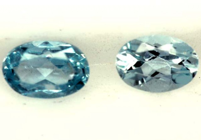 BLUE TOPAZ NATURAL FACETED (2 PCS) 0.95 CTS  PG-1311