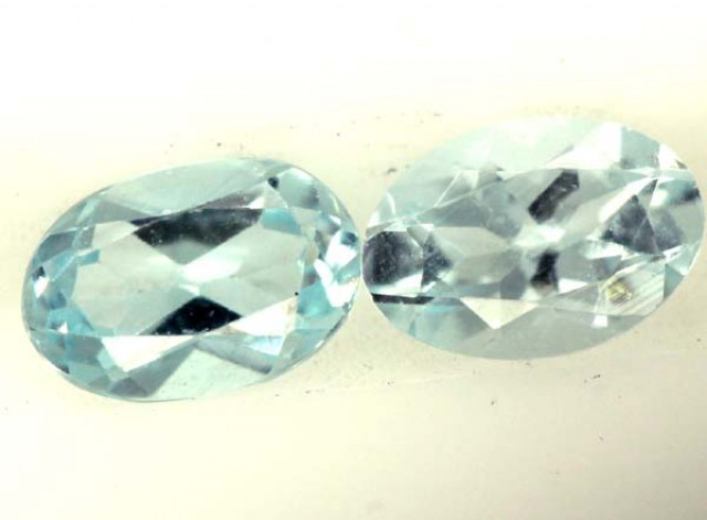 BLUE TOPAZ NATURAL FACETED (2 PCS) 0.90 CTS  PG-1381