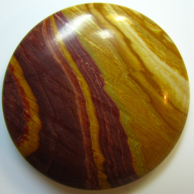 PICTURE JASPER CABOCHON FROM CHINA LARGE STONE 91.10 CTS