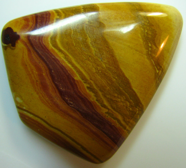 PICTURE JASPER CABOCHON FROM CHINA LARGE STONE 68.65 CTS