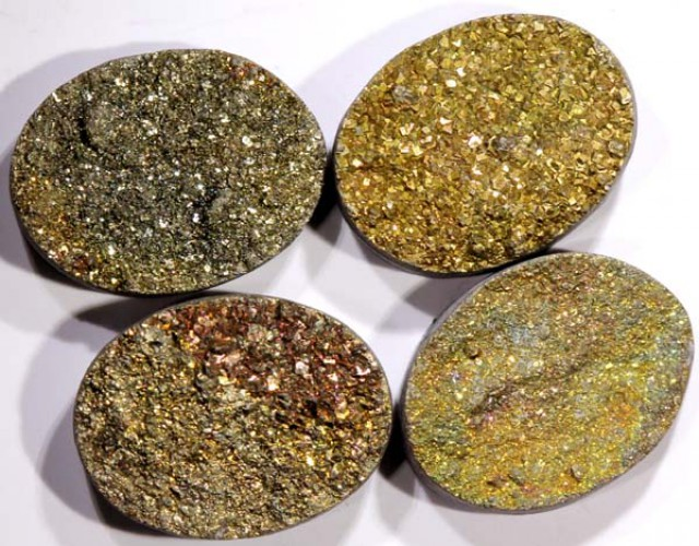NATURAL DRUSY STONE (4PC SET) 38.50 CTSPG-747